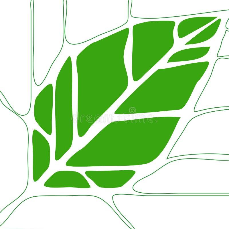 1 liści, ilustracja wektor