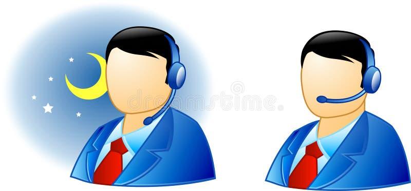 1 live service för hjälp royaltyfri illustrationer