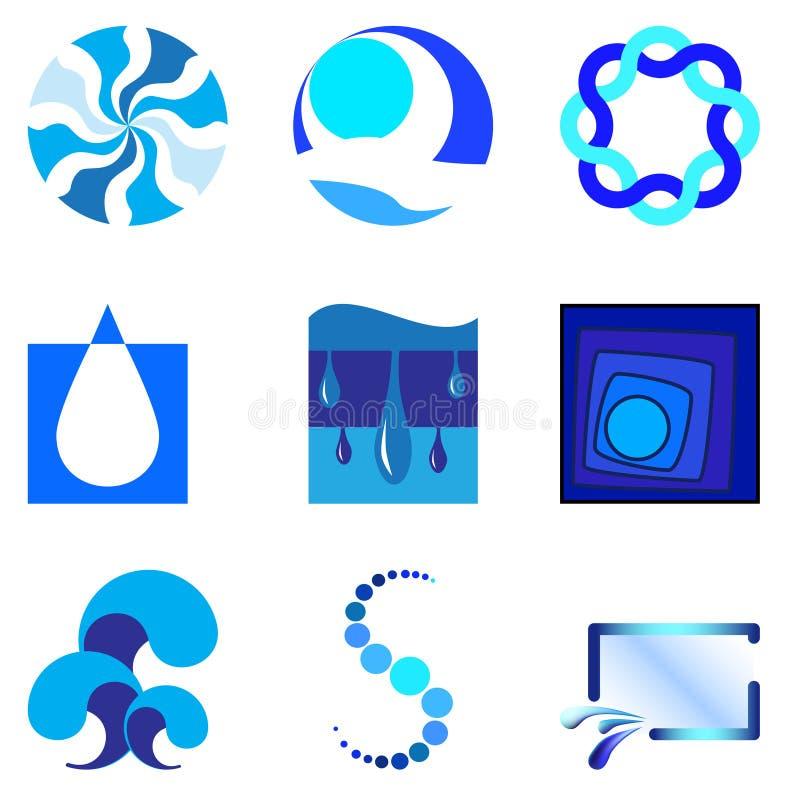 1 logovatten stock illustrationer