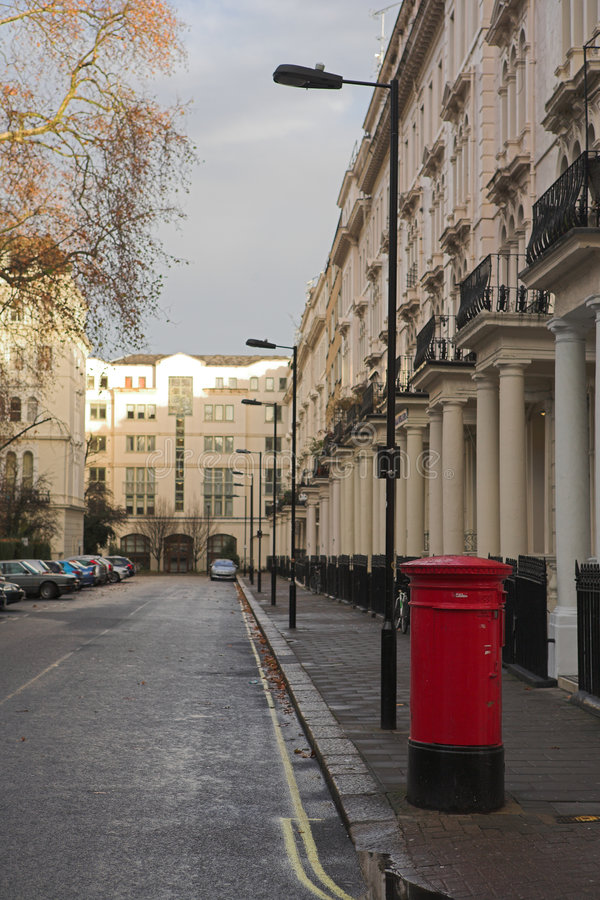 1 London postbox obrazy stock