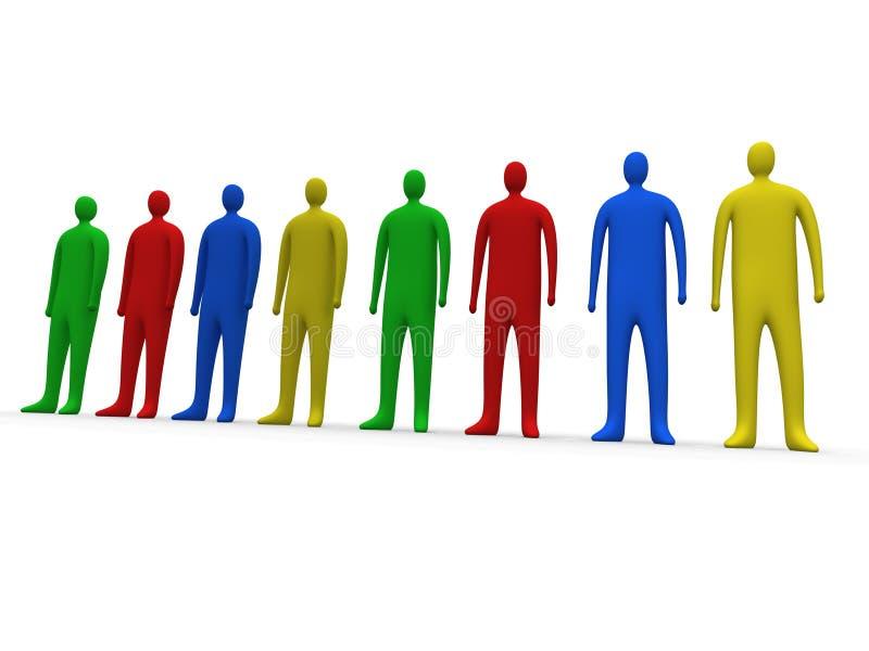 1 ludzi multicolor