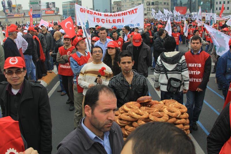 1 maio em Taksim, Istambul imagem de stock royalty free