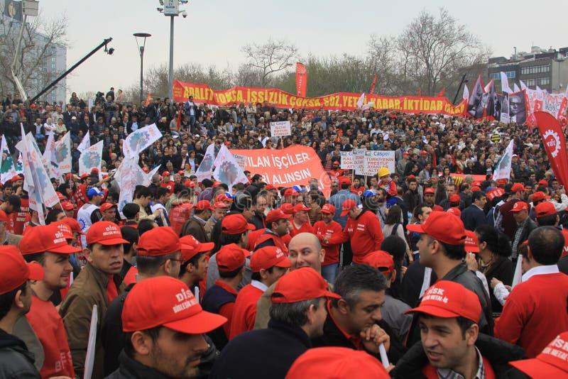 1 maio em Taksim, Istambul fotografia de stock royalty free
