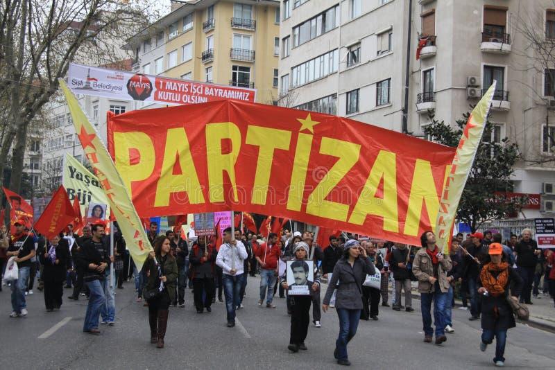 1 maio em Taksim, Istambul foto de stock