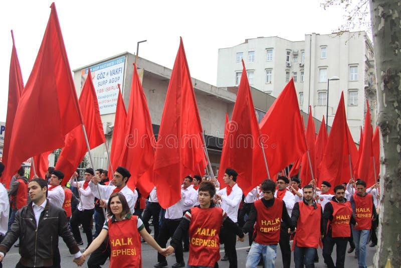 1 maio em Taksim, Istambul fotografia de stock
