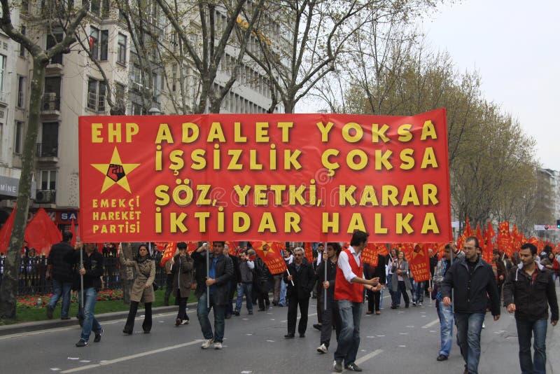 1 maio em Taksim, Istambul foto de stock royalty free