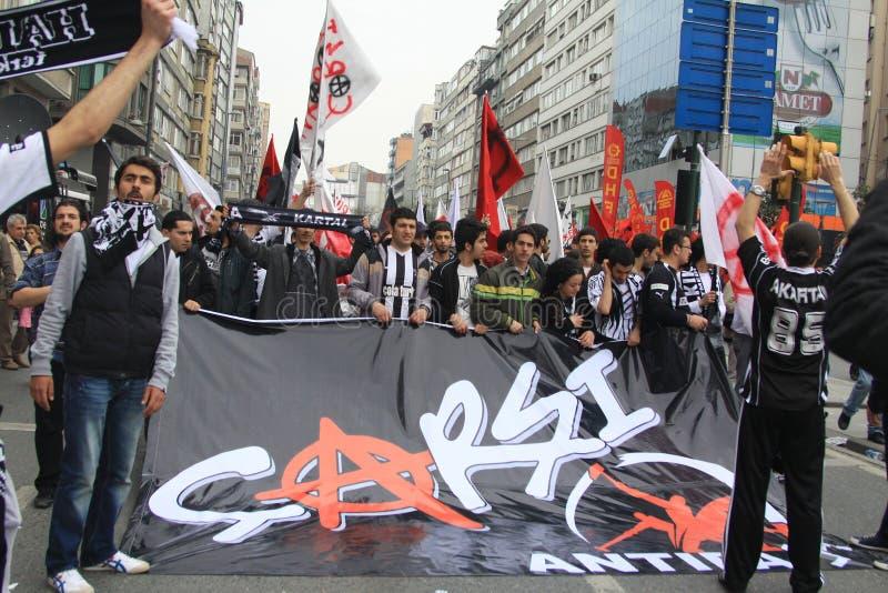 1 maio em Taksim, Istambul imagem de stock