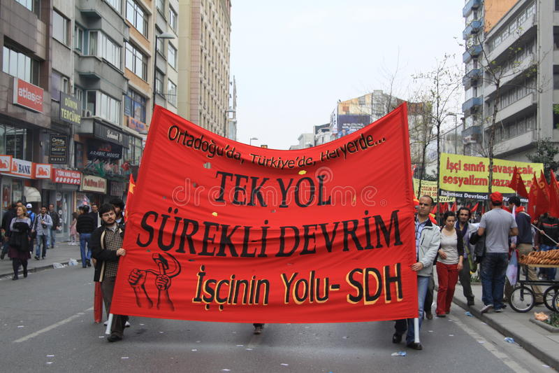 1 maio em Taksim, Istambul imagens de stock royalty free