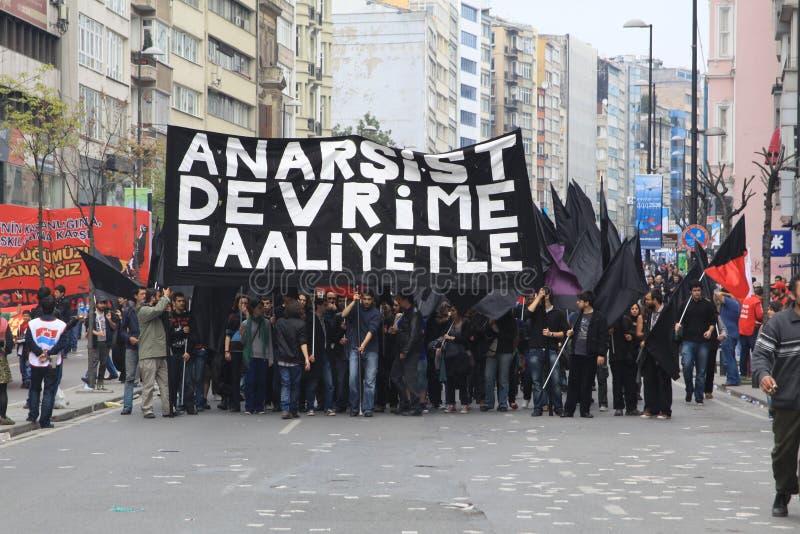1 maio em Taksim, Istambul imagens de stock