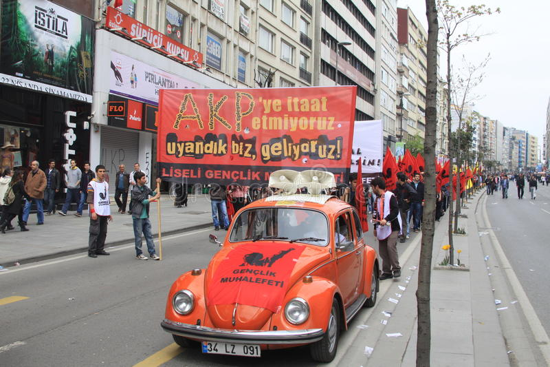 1 maio em Taksim, Istambul fotos de stock royalty free