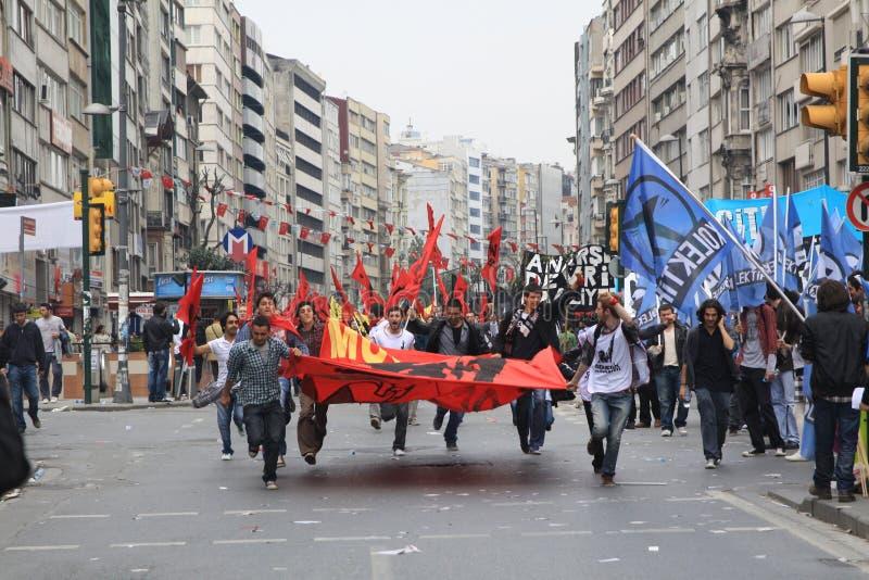 1 maio em Taksim, Istambul fotos de stock