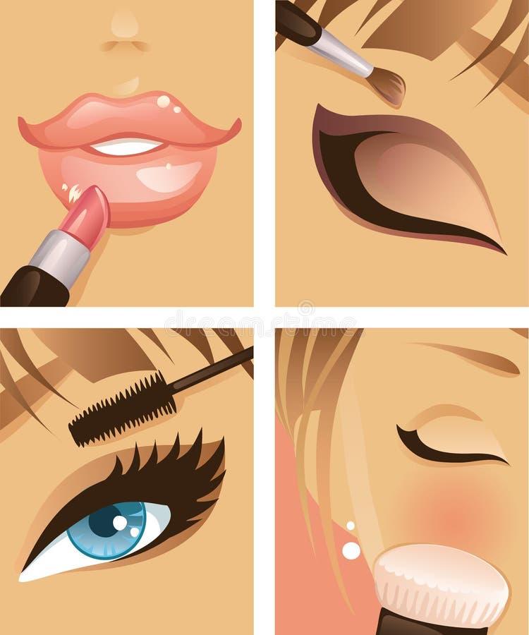 1 makeup royaltyfri illustrationer
