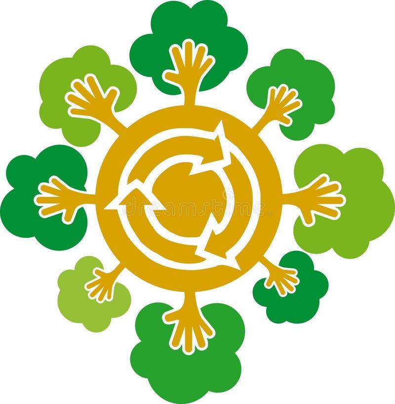 1 mano reciclar wektora royalty ilustracja