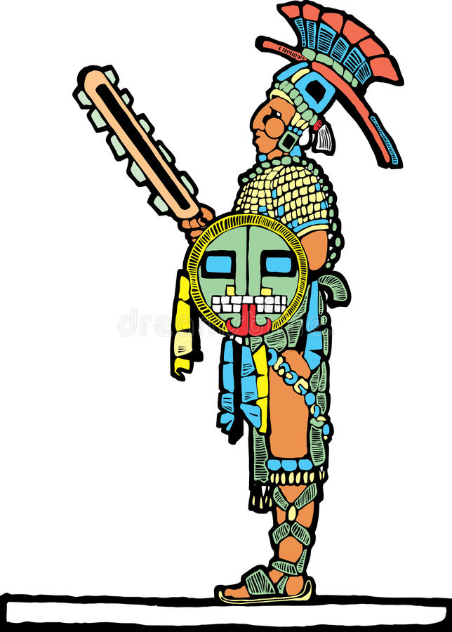 1 mayan basebollspelare stock illustrationer
