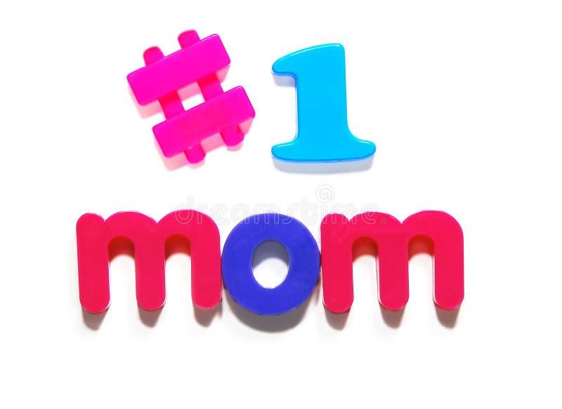 #1 mom royalty free stock image