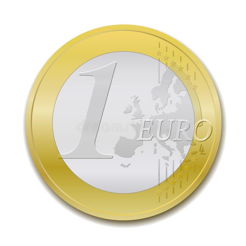 1 monet euro ilustracji