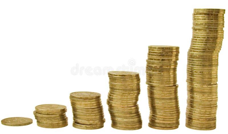 1 monety obrazy stock