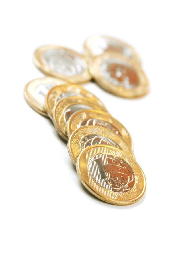 1 monety jeden prawdziwy zdjęcia royalty free