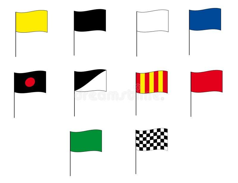 1 moto för flaggaformelgp stock illustrationer