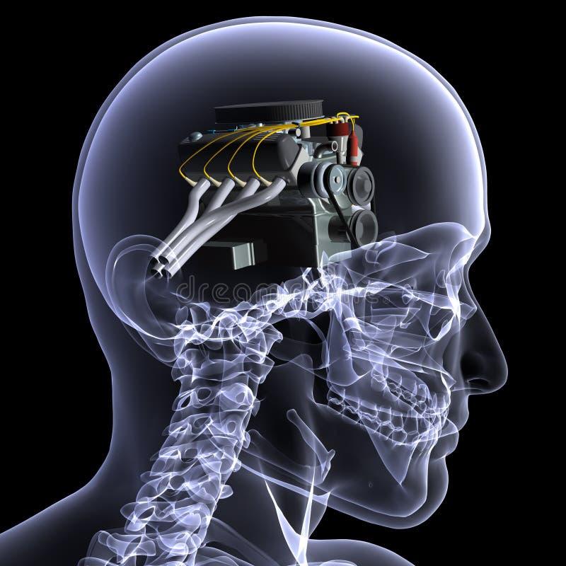 1 motorhead szkielet promieni x ilustracji