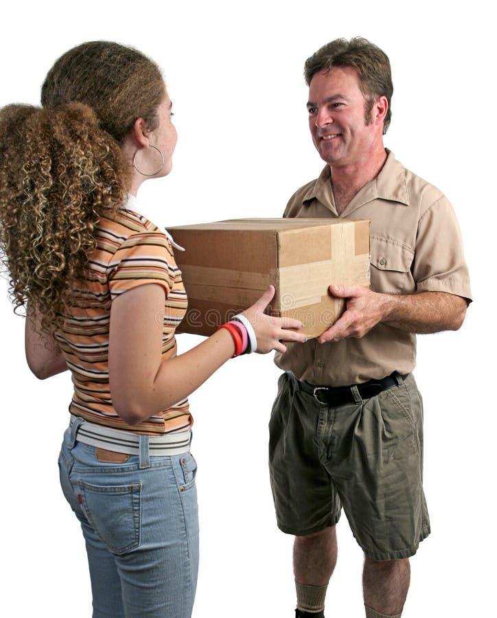 1 motta för leverans arkivbild