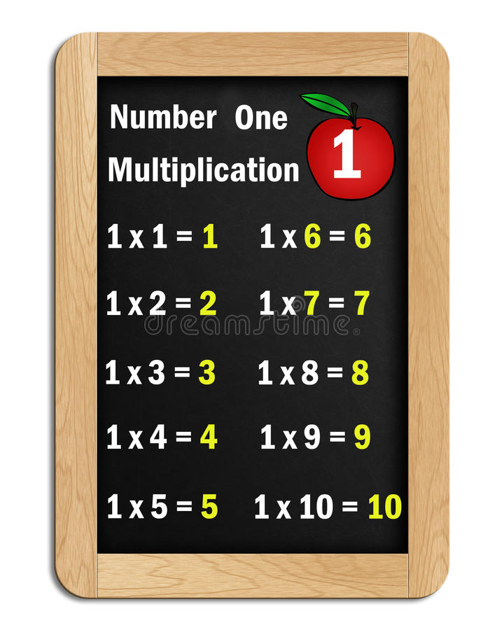 Download # 1 Multiplication Tables On A Blackboard Stock Illustration - Illustration: 19099884