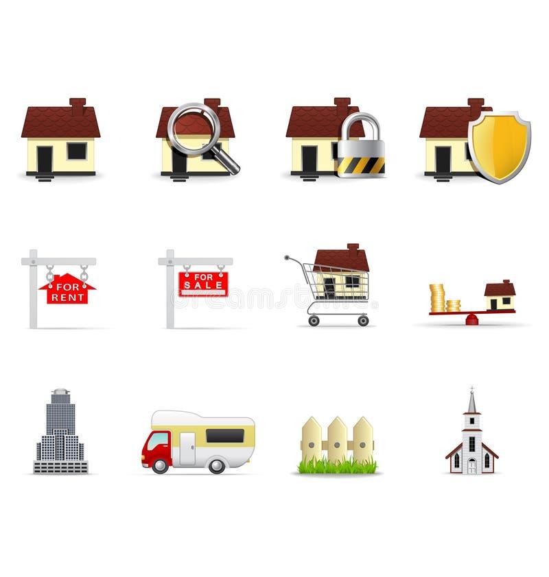 (1) nieruchomości ikon część real royalty ilustracja