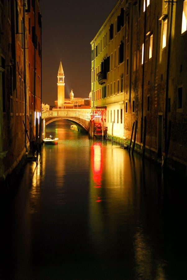 1 night scene venecian στοκ φωτογραφία