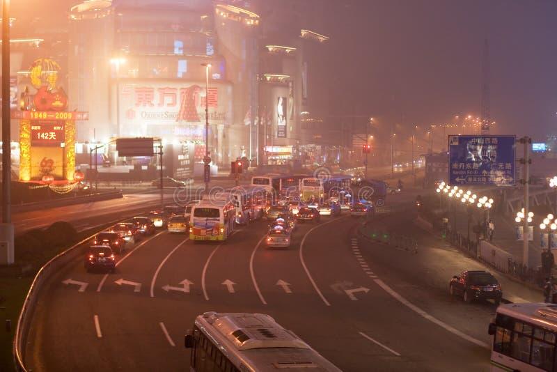 (1) noc Shanghai ulicy fotografia stock