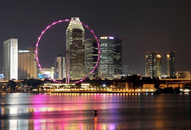 (1) noc Singapore zdjęcie royalty free
