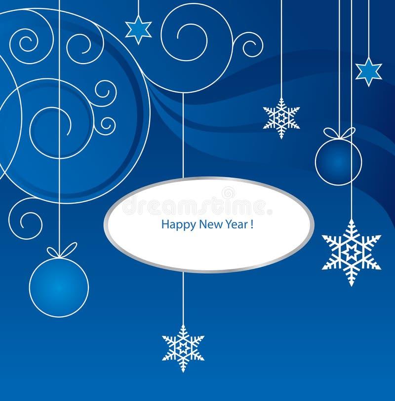 1 nya år royaltyfri illustrationer