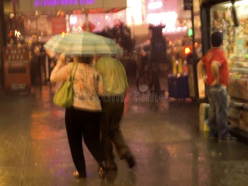 1 nyc雨 免版税图库摄影