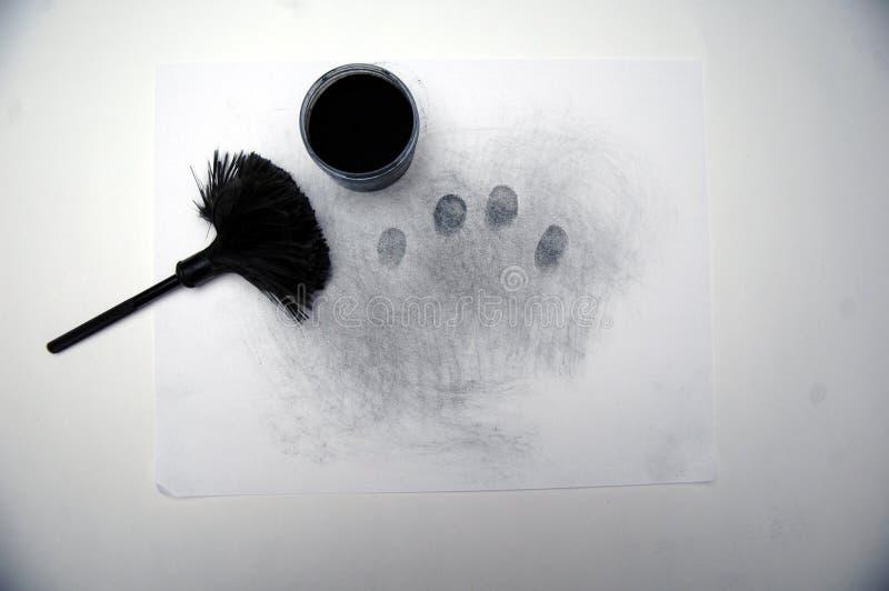 1 odciski palców utajeni obraz stock