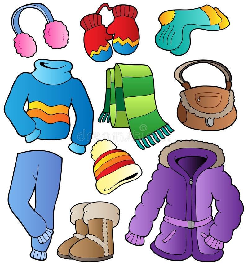 (1) odzieży kolekci zima ilustracji