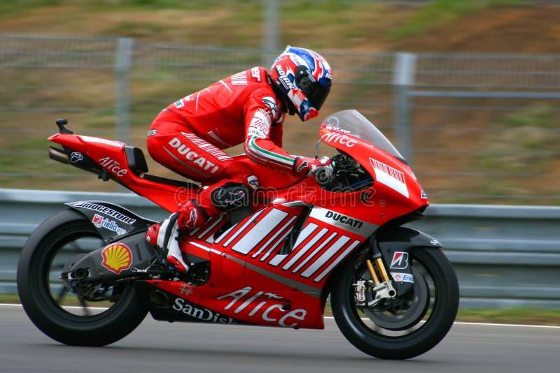 1 Ontpitter Casey - het Team van Ducati Marlboro stock afbeeldingen