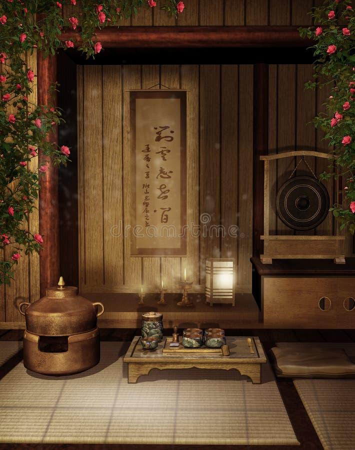 (1) orientalny teahouse ilustracji