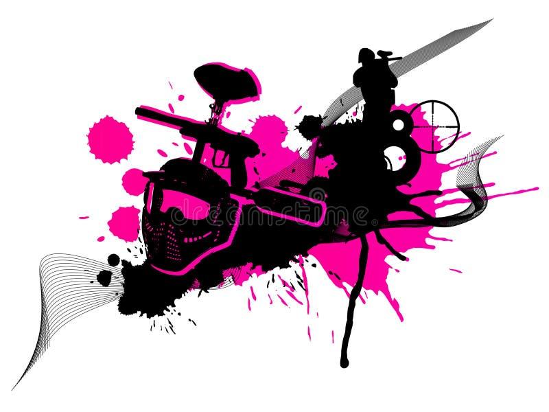 1 paintball бесплатная иллюстрация