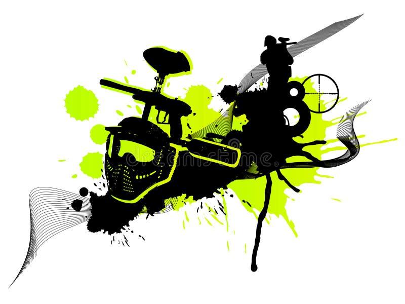 (1) paintball ilustracji