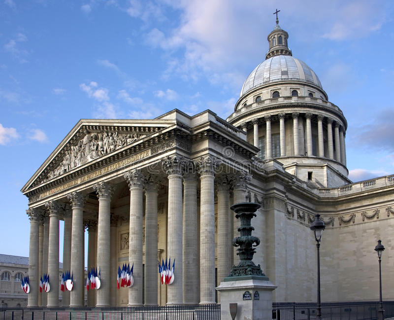 1 pantheon paris arkivbilder