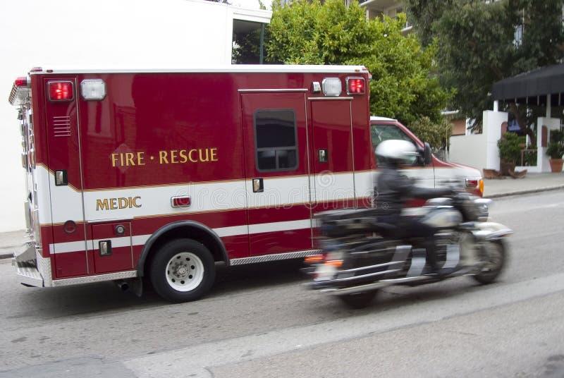 1 person med paramedicinsk utbildning arkivbild