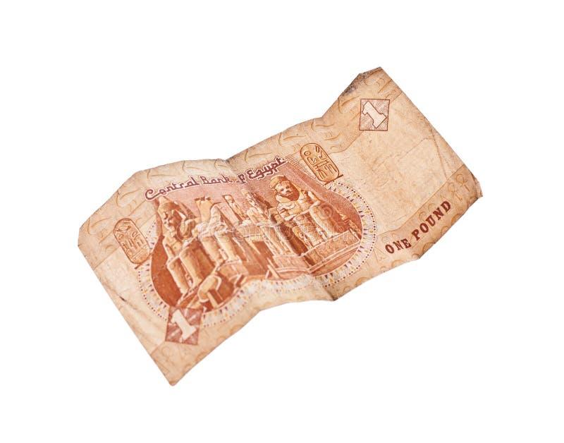 1-Pfund-Rechnung von Ägypten stockfotos