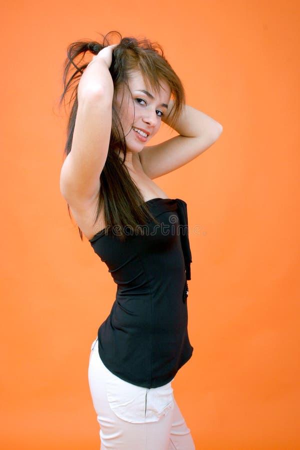 1 posera kvinna arkivfoton