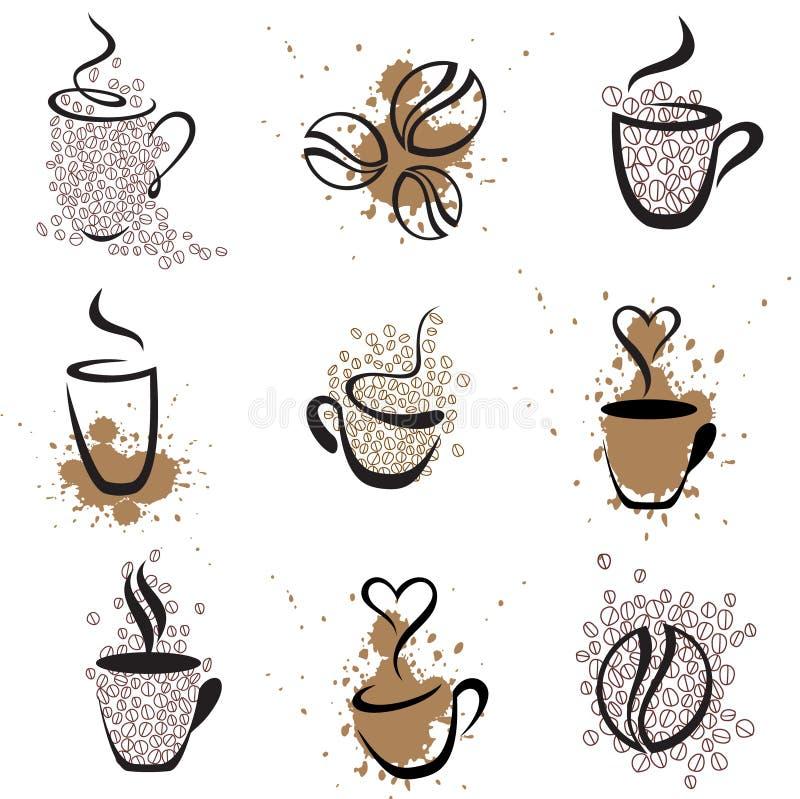 1 positionnement de café illustration de vecteur