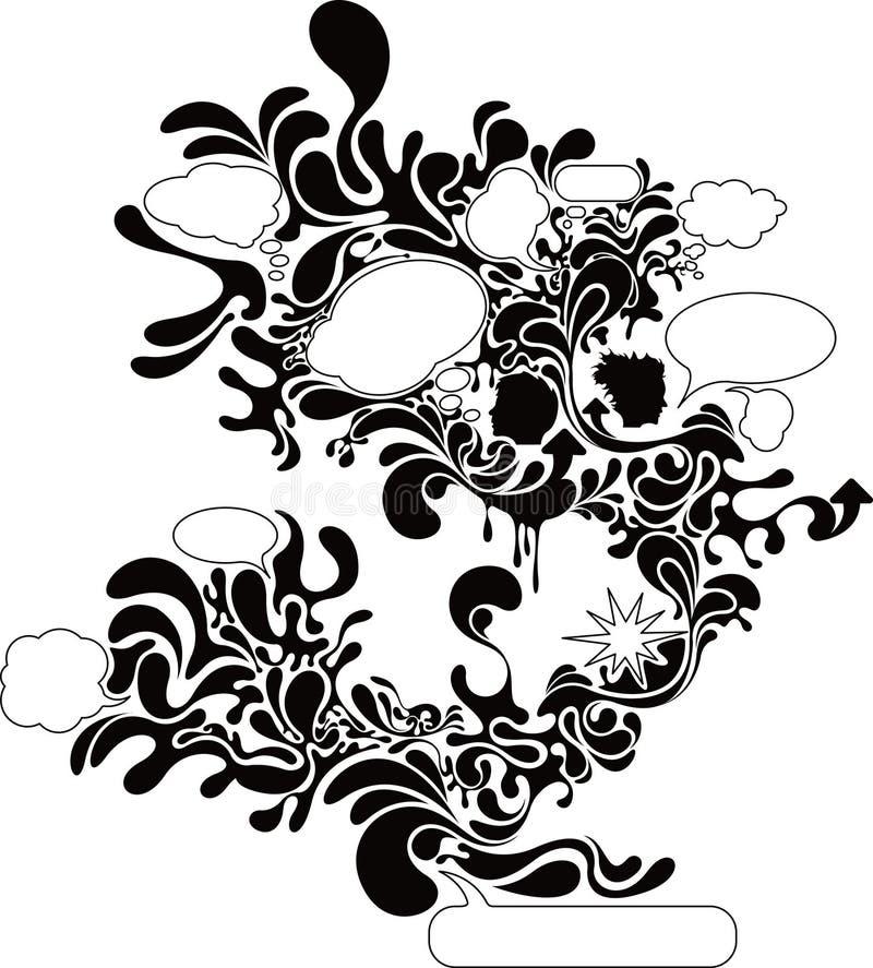 1 prata för bubbla royaltyfri illustrationer