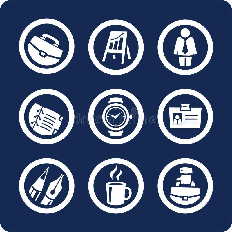 1 przedsiębiorstw 5 ikon biuro zestaw części royalty ilustracja