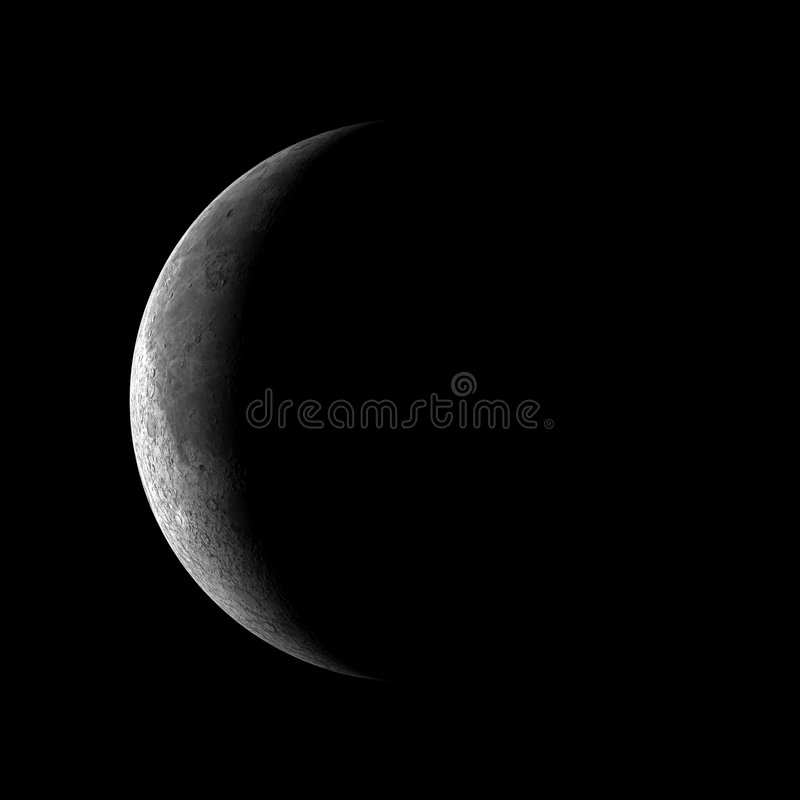 Download 1 quarter moon stock image. Image of crater, space, lunar - 3859851
