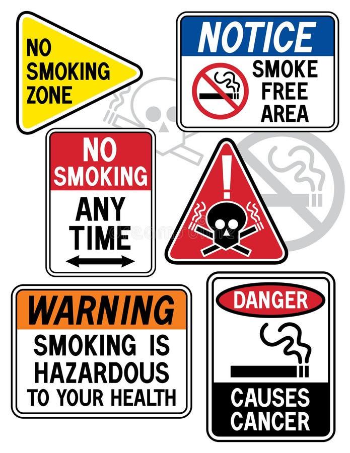 1 rökning för faratecken stock illustrationer