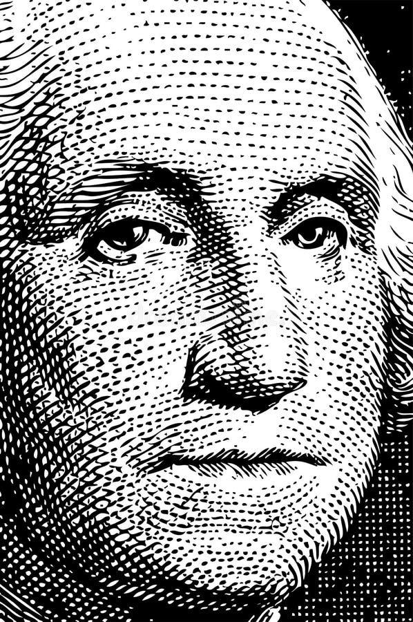 1 rachunku Washington toru ilustracji