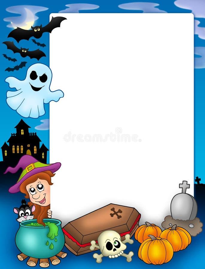 (1) ramowy Halloween ilustracji