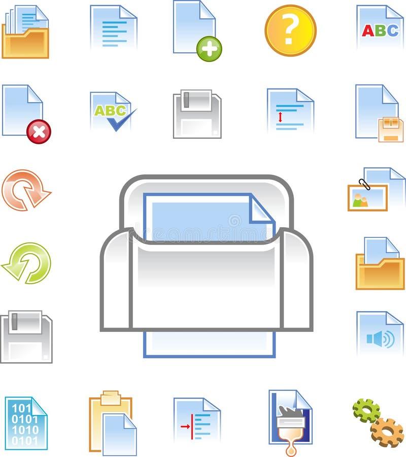 1 redaktora ikony ustalają tekst royalty ilustracja